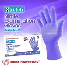 Violet Blue Nitrile Gloves - Powder Free