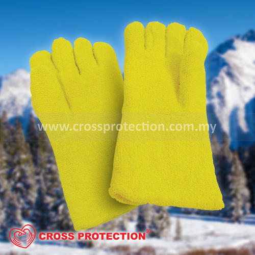 Yellow Color Cold Resistant Gloves