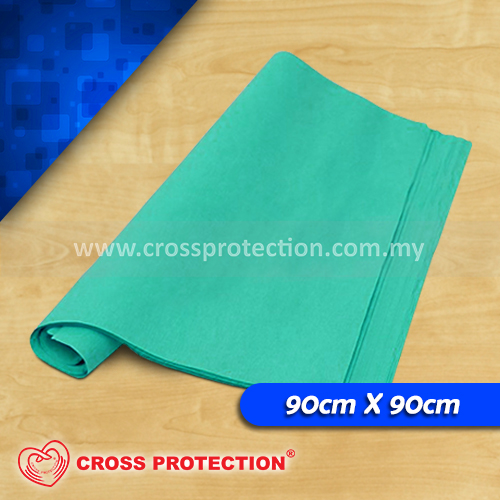 Green Crepe Paper 90x90cm