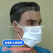 3 Ply Surgical Face Mask with ANTIFOG SHIELD - ASTM LEVEL 2