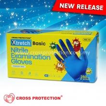 XTRETCH BASIC Blue Nitrile Gloves - Powder Free