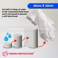 Mini Compressed Towel - White