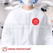 HIGH RISK Poly Coated Isolation Gown - Knitted Cuff