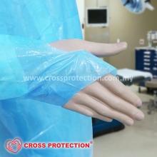 Plastic Apron Long Blue Sleeve