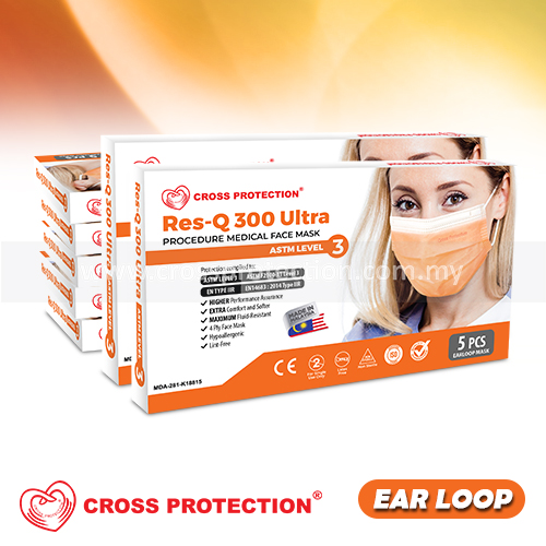 4 Ply Surgical Face Mask (5pcs/120bxs) - ASTM LEVEL 3